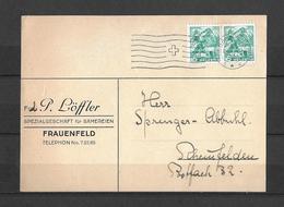 HEIMAT THURGAU → P.Löffler Sämereien Frauenfeld Anno 1943 - Suisse
