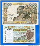 Cote  D'ivoire  2  Billets - Costa D'Avorio