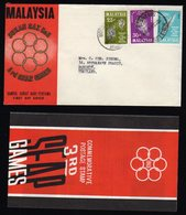 Malaysia Fdc Seap Games 1965 Included Info Folder To Thailand. - Malaysia (1964-...)