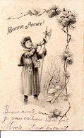 Illustrée, VIENNE  : Petit Guerrier . Pommes De Pin, Champignons Et Cor De Chasse . - Nouvel An