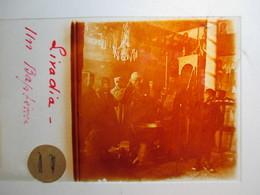 """GRECE -   LIVADIA   - """" Un Baptême """" - Rare Plaque De Verre Stéréoscopique  - 1917 - - Glass Slides"""