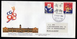 Malaysia Fdc 1994 Gutter Included Info Folder To Netherlands.. - Malaysia (1964-...)