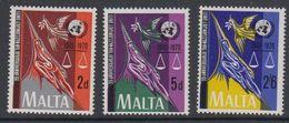 Malta 1970 25Y Uno 3v ** Mnh (42797H) - Malta