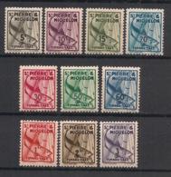 SPM - 1938 - Taxe TT N°Yv. 32 à 41 - Série Complète - Neuf Luxe ** / MNH / Postfrisch - Postage Due