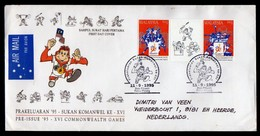 Malaysia Fdc 1995 Gutter Included Info Folder To Netherlands.. - Malaysia (1964-...)