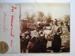 """GRECE -   LIVADIA   - """" En Arrivant Au Marché  """" - Rare Plaque De Verre Stéréoscopique  - 1917 - - Glass Slides"""