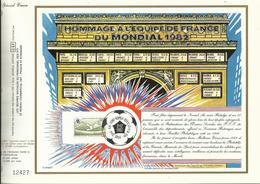 Oeuvres Sociales Des PTT , Spécial Voeux , FONT ROMEU Equipe De France 82 , 31.12.1982 , N° YT 2209 , Exemplaire N°12427 - Commemorative Labels