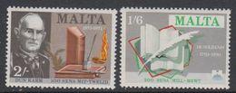 Malta 1971 Dichter Und Schriftsteller 2v ** Mnh (42797I) - Malta