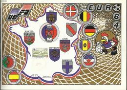 Oeuvres Sociales Des PTT , Spécial EURO 84 , 27.06.1984 , N° YT 2209 , Exemplaire N° 4253 - Commemorative Labels