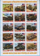 Abkhazia / Stamps / Private Issue. Military Equipment USA . Self-propelled Artillery. World War II. 2019 - Fantasy Labels