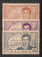 Soudan - 1939 - N°Yv. 100 à 102 - René Caillié - Neuf Luxe ** / MNH / Postfrisch - Ungebraucht