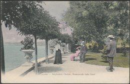 Promenade Lake Front, Polytechnic Chalets, Lucerne, 1906 - Wega Stadthof Postcard - LU Lucerne