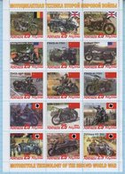 Abkhazia / Stamps / Private Issue. Motorcycle Technology. World War II. Motorcycles. Transport 2019. - Fantasy Labels