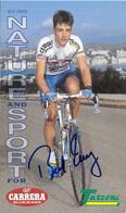 CARTE CYCLISME BEAT ZBERG SIGNEE TEAM CARRERA 1995 FORMAT 12 X 20 - Cycling