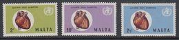 Malta 1971 World Hart Month 3v ** Mnh (42797J) - Malta