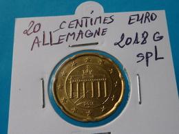 20 CENTIMES EURO ALLEMAGNE 2018 G Spl  ( 2 Photos ) - Allemagne