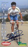 CARTE CYCLISME LEONARDO SIERRA SIGNEE TEAM CARRERA 1995 FORMAT 12 X 20 - Ciclismo