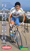 CARTE CYCLISME CLAUDIO CHIAPPUCCI SIGNEE TEAM CARRERA 1995 FORMAT 12 X 20 - Cycling