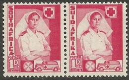 South Africa - 1941 Nurse 1d Bilingual Pair MLH *  SG 89  Sc 82 - South Africa (...-1961)