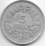 France  5 Francs  1950 Closed 9 Km 888b.1    Xf - Francia