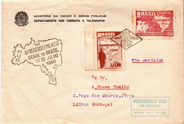 Postal History Cover: Brazil Stamps On Cover - Cartas