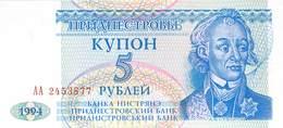 5 Rubel  Transnistrischen Moldauische Republik, - Other - Europe