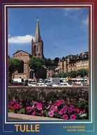 CPM - Les Quais De La Corrèze Et La Cathédrale Notre-Dame - Tulle
