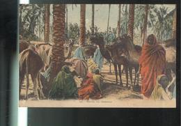 CPA Scènes Et Types - Marché Aux Chameaux - Circulée 1928 - Cartes Postales