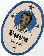 étiquette De Rhum Botmel 35° - Rhum