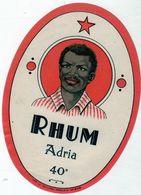 étiquette De Rhum Adria 40° - Rhum