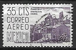 MEXIQUE   -   Aéro   -   Architecture Coloniale .   Oblitéré . - Mexique