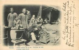 HANKOW- Petits Métiers De La Rue ;Tourneur De Bois -   Superbe A Sreet Wood Turner - Chine