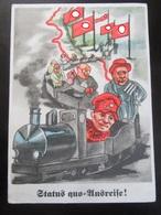 Postkarte Propaganda Saarabstimmung 1935 Saar - Deutschland