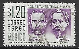 MEXIQUE   -   Aéro   -   Léon Guzman  /  Ignacio Ramirez.   Oblitéré . - Mexico