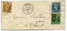 Lettre 1852(?) Triple Piquage Susse 3 Couleurs,  Montage? - 1849-1876: Période Classique