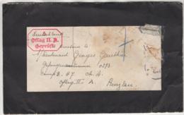 Lettre Envoyée Vers L'Allemagne OFLAG II A En 19?? - Marcophilie