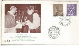 VATICANO 1961 VISITA A PABLO VI DEL ARZOBISPO DE CANTERBURY RELIGION - Papas