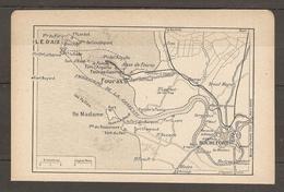CARTE TOPOGRAPHIQUE 1923 ILE D'AIX ILE MADAME CHARENTE (17) FOURAS ROCHEFORT FORT BOYARD - Mapas Topográficas