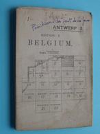 ANTWERP 3. - Edition 2 BELGIUM - Scale 1/100.000 ( Oudere 2de Hands Kaart Op Katoen / Cotton / Zonder Kaft ) 1911 ! - Europe