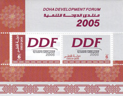 QATAR 2005, SOUVENIR SHEET X 10 -Doha Devlepo,Forum -SPECIAL REDUCED PRICE- SKRILL PAYMENT ONLY - Qatar