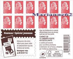 """France 2019 Carnet Marianne L'engagée PRIO """" Nouveau ! Spéciale Jeunesse """" - MNH Neuf - Carnets"""