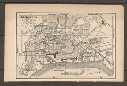 CARTE TOPOGRAPHIQUE 1923 ROCHEFORT CHARENTE (17) PORT DU COMMERCE PORT MILITAIRE ARSENAL - Topographische Karten