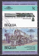 Bequia, 1984/1987 - 1c Challenger Class - Nr.1a/1b, Coppia  Usato° - St.Vincent (1979-...)
