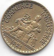 France  1 Franc  1921 Km 876 Vf+ - H. 1 Franco