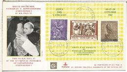 VATICANO 1967 VISITA DE PAPA PABLO VI AL PATRIARCA ATHENAGORAS I - Papas