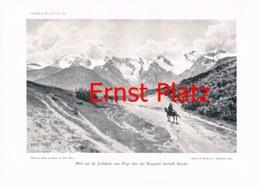 760-2 Ernst Platz Lailakette Kaukasus Kunstblatt 1904!! - Estampes