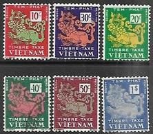 South Viet Nam 1952  Sc#J1-6 Dues Set Mint/used  2016 Scott Value $8.95 - Vietnam