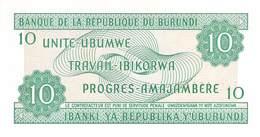 10 Burundi-Franc UNC 2001 - Burundi
