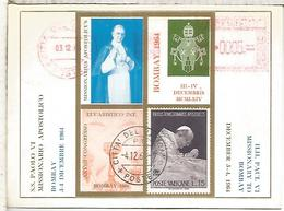 VATICANO 1964 PABLO VI MISIONERO EN BOMBAY METER - Papas