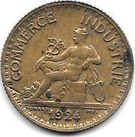 *france  1 Franc  1924 Closed 4  Km 876   Vf+ - Francia